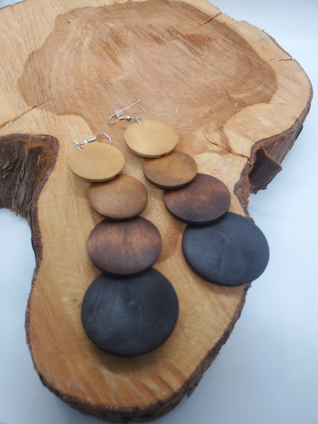 Wooden Circle Earrings