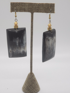 Black Marble Earrings