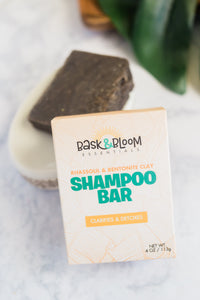 Bask & Bloom Rhassoul & Bentonite Clay Shampoo Bar
