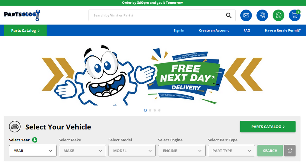 Partsology Auto Parts - Truck and Car Parts Search Options