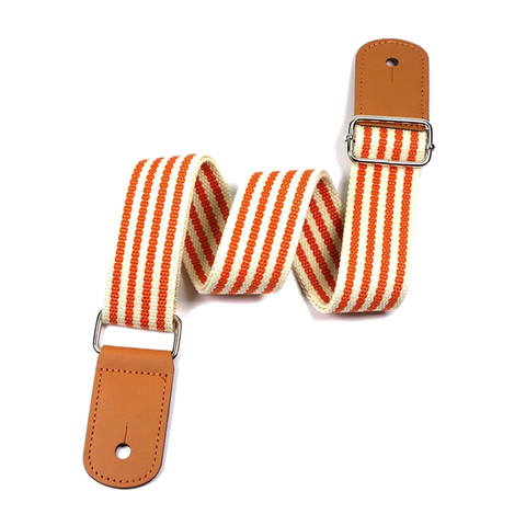 Adjustable Orange Stripes Ukulele Strap