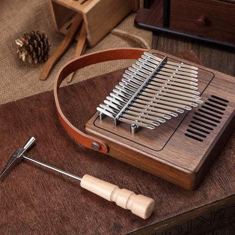 playlimba - PlayLimba™ 17 Keys Kalimba - Vintage Radio Shape With Leather Strap - PlayLimba™ - 100005497