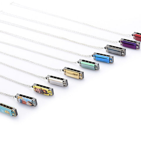 playlimba,8-Tone Mini Harmonica Necklace With 4 Hole,PlayLimba™,Harmonica Accessories