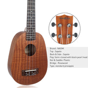 playlimba,Pineapple Shaped Matte Ukulele,PlayLimba™,Ukulele 2