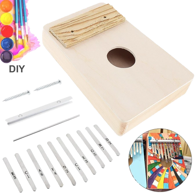 playlimba - PlayLimba™ 10 Keys Kalimba Kit Basswood DIY - PlayLimba™ - 100005497