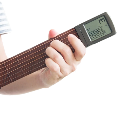Portable Acoustic Guitar 6 String LCD Chord Trainer