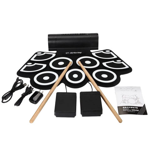 USB Silicon Pads Drum Kit