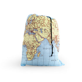 Travel Laundry Bag - Map