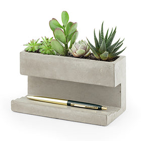 Concrete Desktop Planter - Large