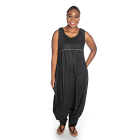 Criss Cross Dungaree - Black