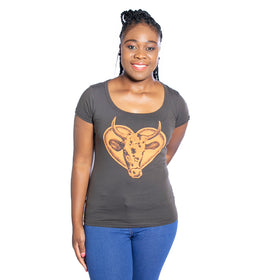 Ladies Nguni T-Shirt - Chocolate