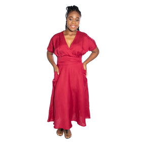 Bali Dress - Ruby