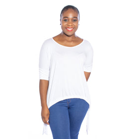 Laid Back Top - White