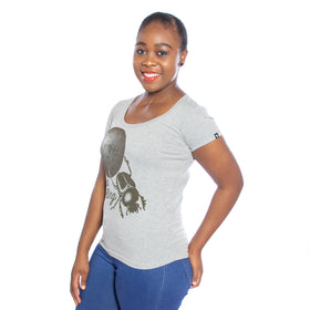 Ladies Keep Rolling T-Shirt - Grey