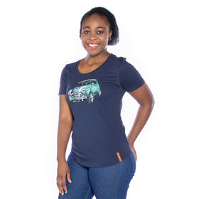 Ladies Vintage Mini T-Shirt - Navy
