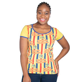 Ladies Happie Chappie T-Shirt - Yellow