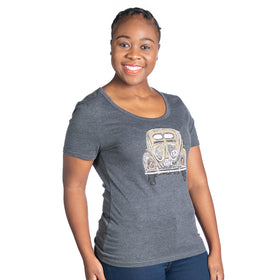 Ladies Pastel Volksie T-Shirt - Charcoal
