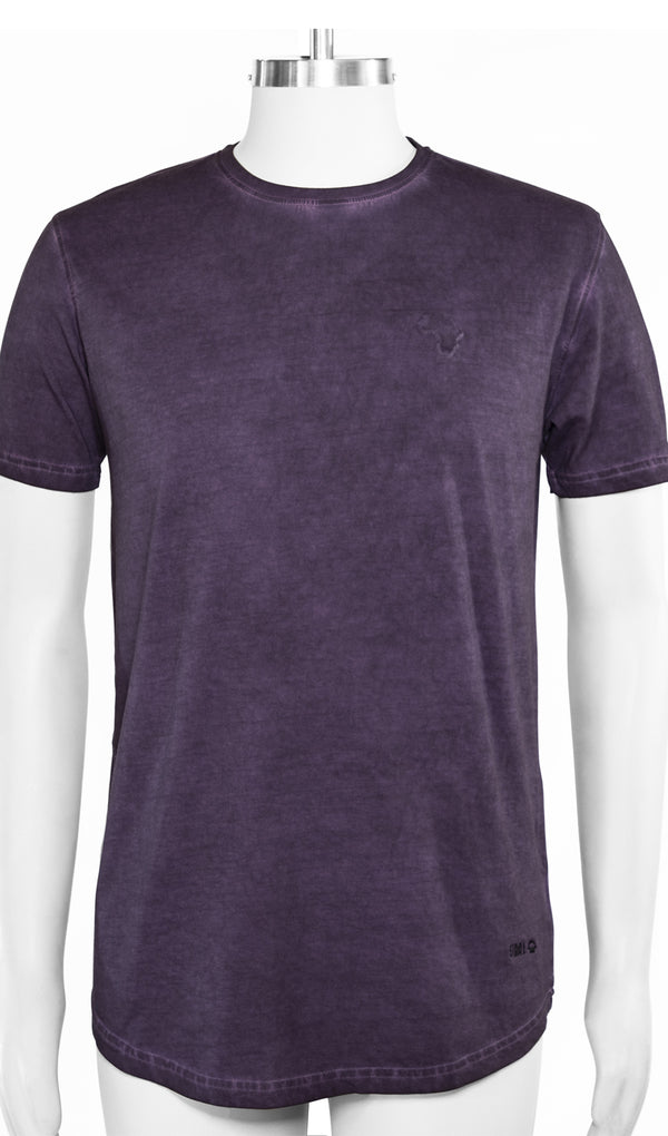 Staal Africa Embossed T-Shirt - Purple