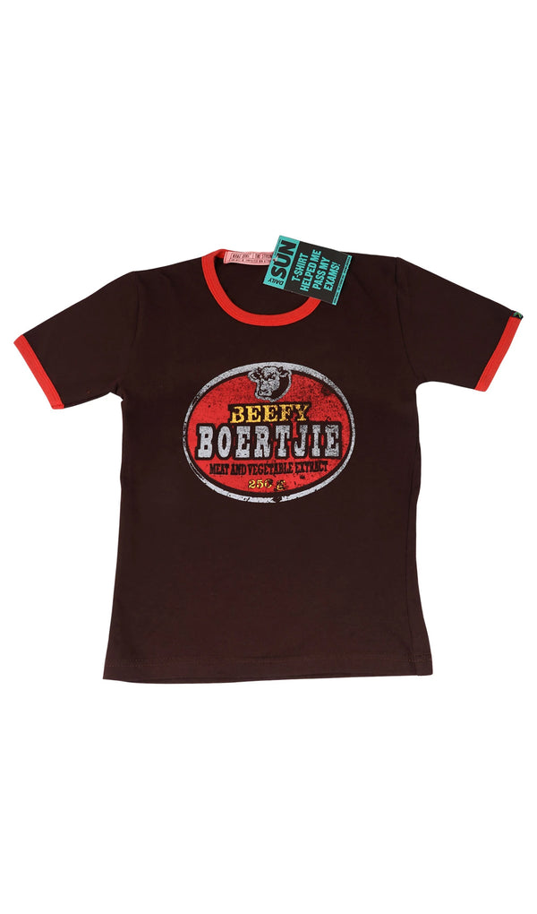 Junior Beefy Boertjie T-Shirt - Chocolate
