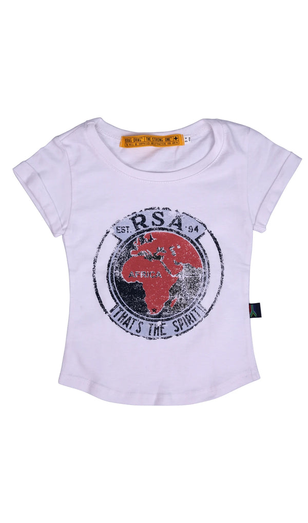 Junior SA Spirit T-Shirt - White
