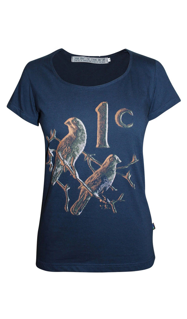 Ladies 1 Cent T-Shirt - Navy