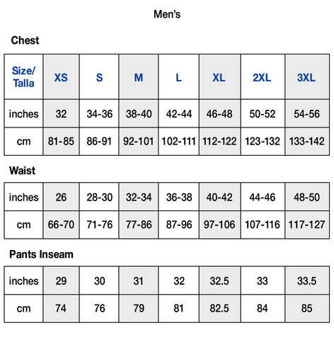 Size Guide Champion Men US