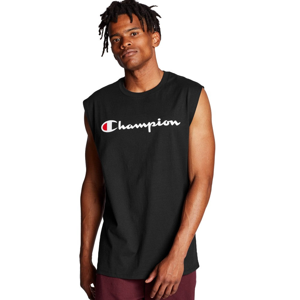 Champion USA Classic Graphic Muscle T-Shirt - Black