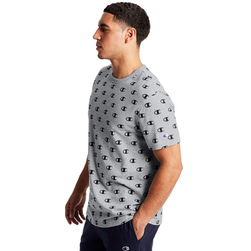Champion USA Sportstyle AOP T-Shirt - C Allover Oxford Grey