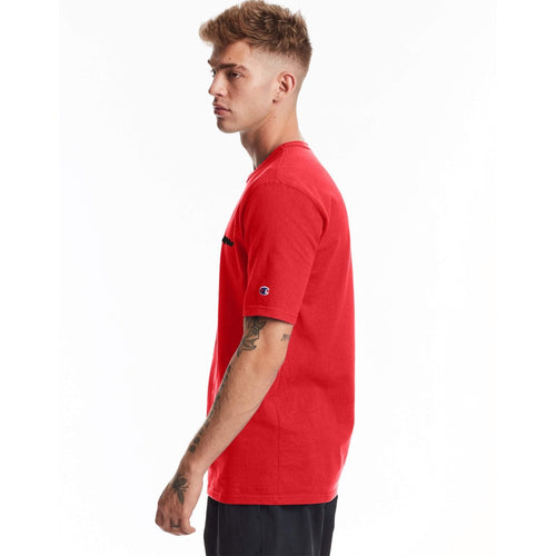 Champion USA Heritage T-Shirt (Embroidered Logo) - Team Red Scarlet