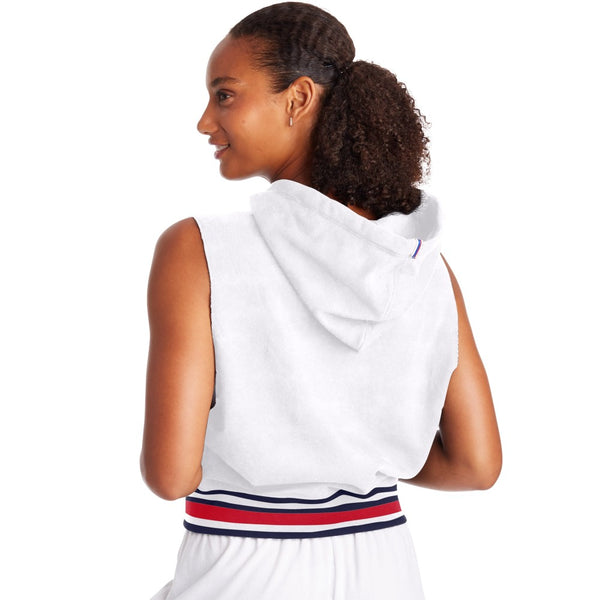 Champion USA Womens Campus Sleeveless Hoodie