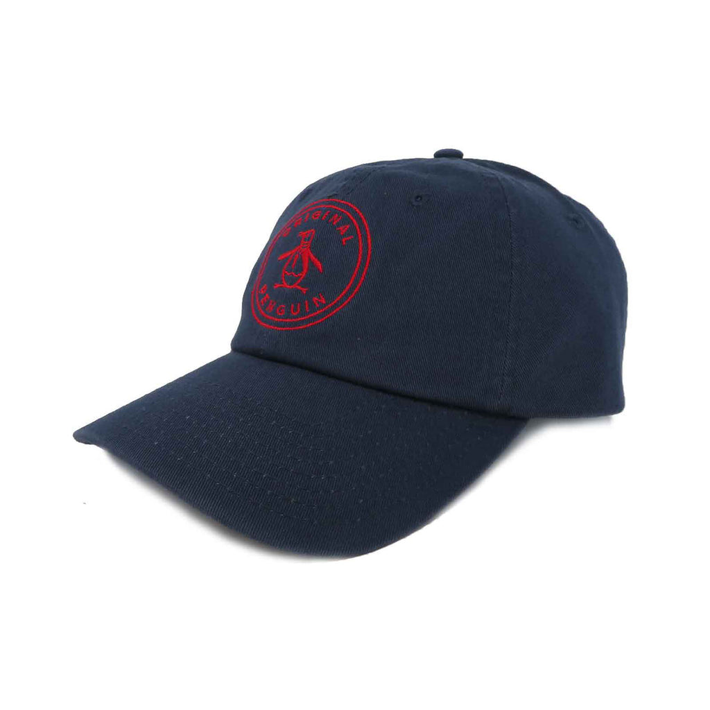 Original Penguin Crabtree Cap/Stamp Navy Red Cap - ANTHEM