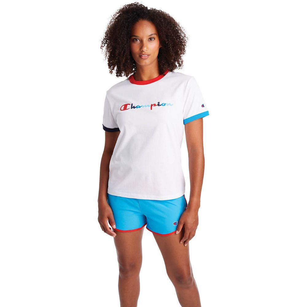 Champion USA Womens Campus Ringer T-Shirt