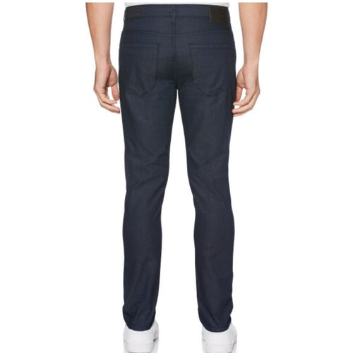 Perry Ellis Very Slim Straight 5-Pocket Dark Indigo Denim Pants - Dark Indigo