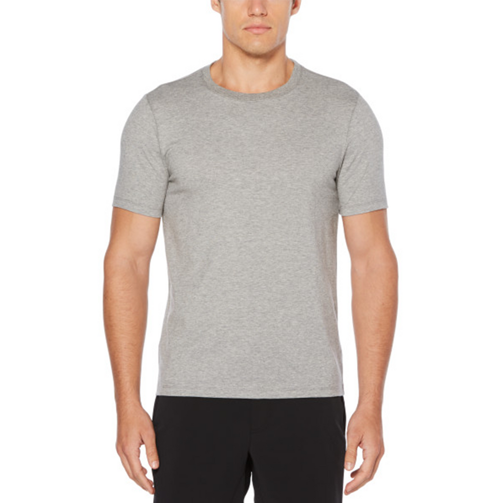 Perry Ellis Pma Spandex Crewneck T-Shirt - Alloy Heather - ANTHEM