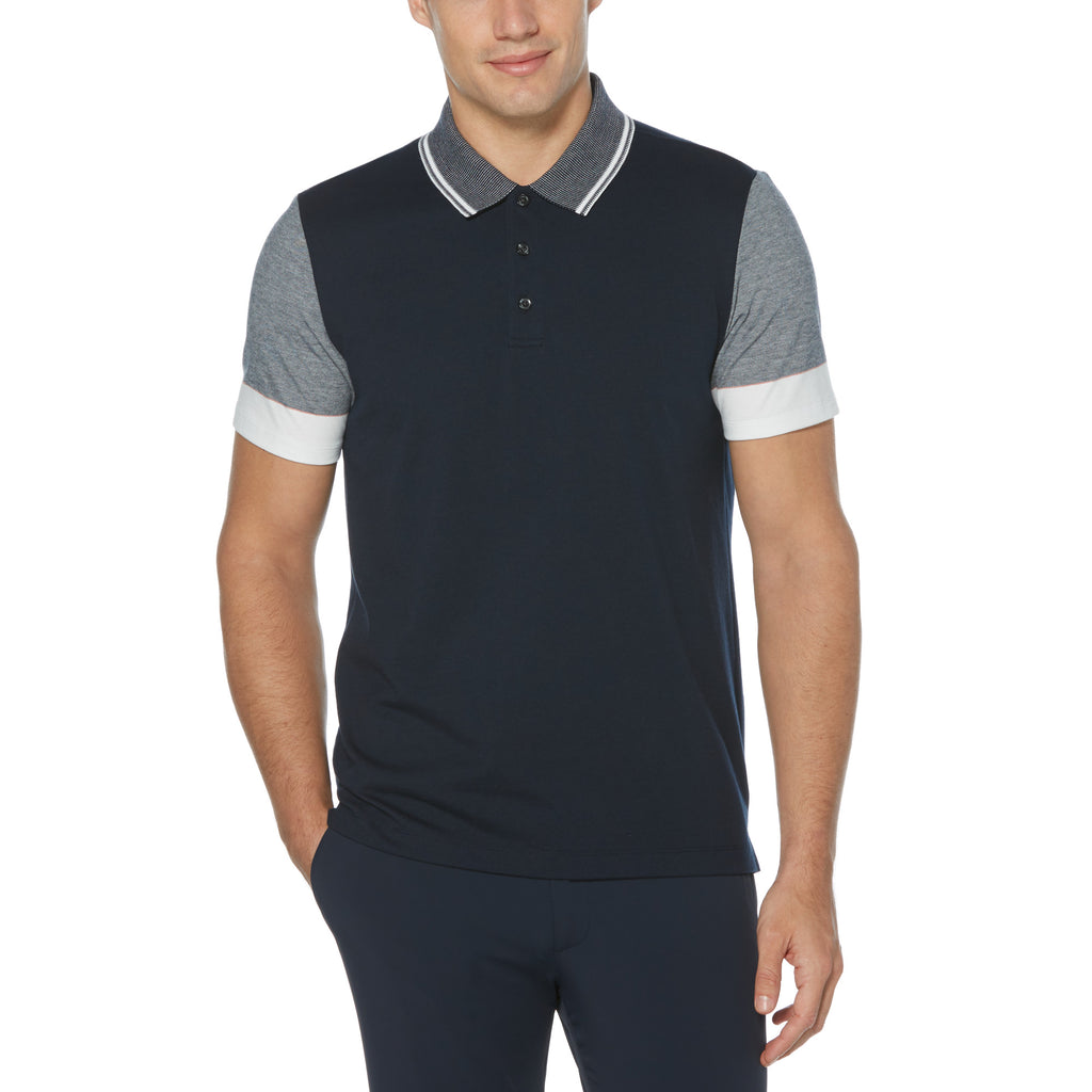 Perry Ellis Engineered Stripe 3-Button Polo Shirt - ANTHEM