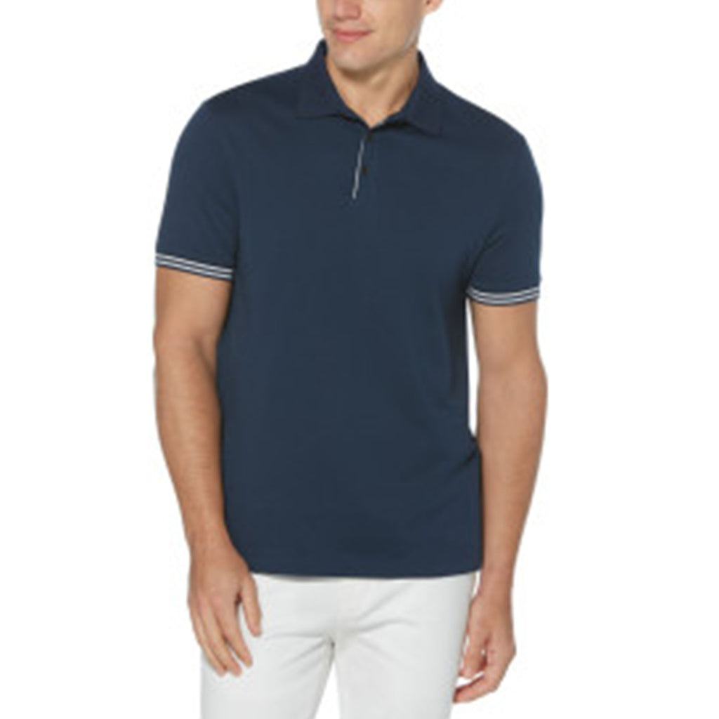 Perry Ellis 3 Button Solid Polo Ink - ANTHEM