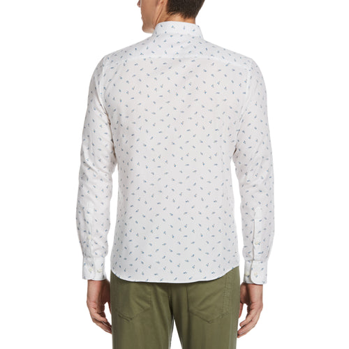 Perry Ellis Floral Untuck Long Sleeve Woven Shirt - ANTHEM