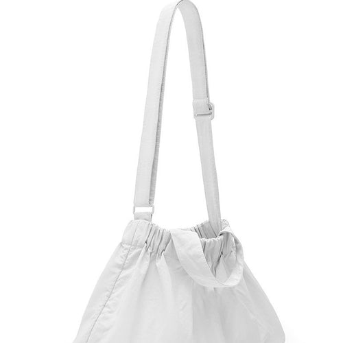 Beyond The Vines Elastic Dumpling Bag Small - White