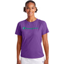 Champion USA Womens Classic T-Shirt - Purple Crush