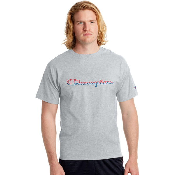 Champion USA Classic Graphic T-Shirt - Oxford Gray