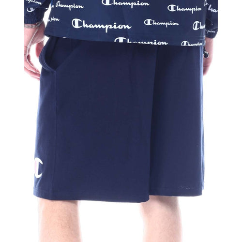 Champion Graphic Jersey Shorts - Navy