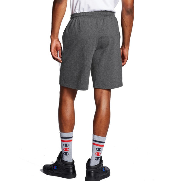 Champion USA Graphic Jersey Shorts - Granite Heather