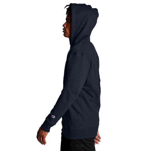 Champion USA Powerblend Graphic Hooded Sweatshirt - Navy