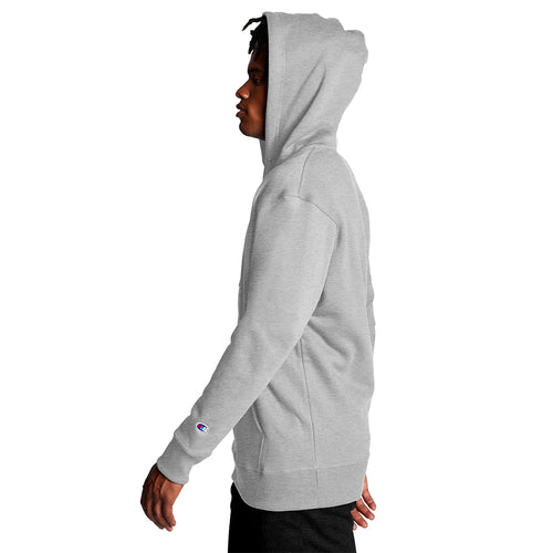 Champion USA Powerblend Graphic Hooded Sweatshirt - Oxford Gray