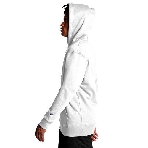 Champion USA Powerblend Graphic Hooded Sweatshirt - White