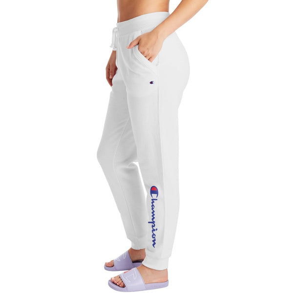 Champion USA Womens Powerblend Graphic Jogger - White