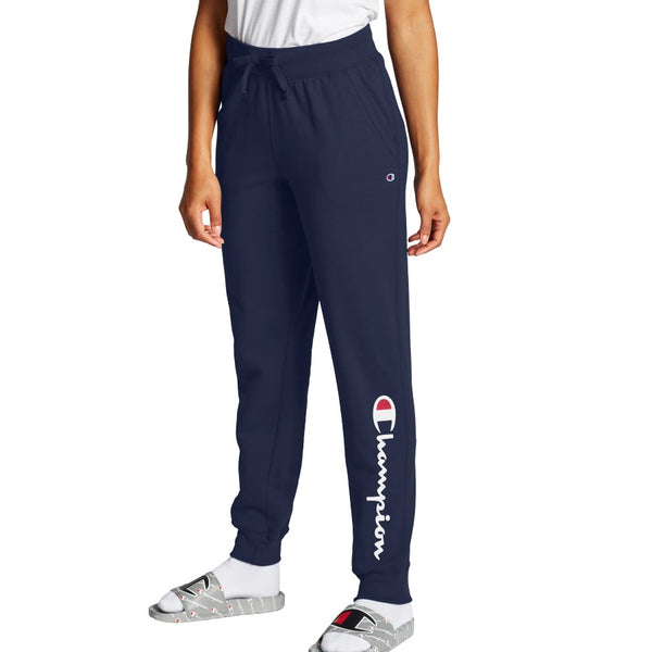 Champion USA Womens Powerblend Graphic Jogger - Athletic Navy