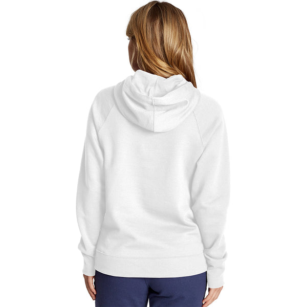 Champion USA Womens Powerblend Hooded Sweatshirt - White