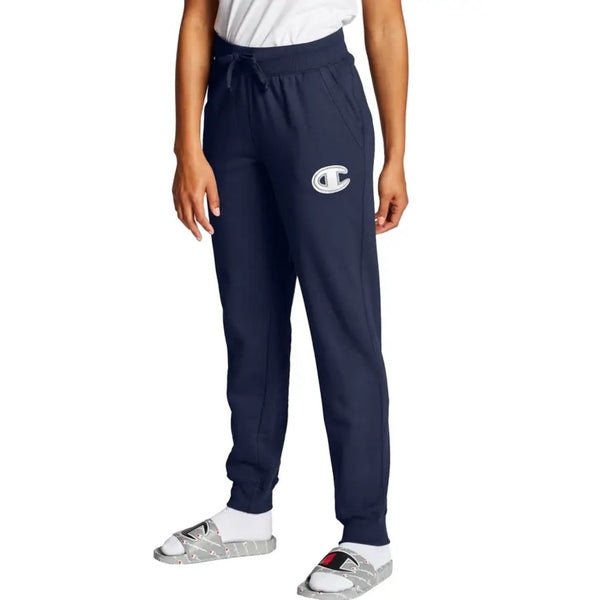 Champion USA Womens Powerblend Applique Jogger - Athletic Navy
