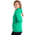 Champion USA Womens Powerblend Applique Hooded Sweatshirt - Green Alive